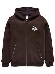 hype-black-zip-hoodie
