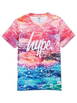 hype-girls-pink-sky-print-t-shirt