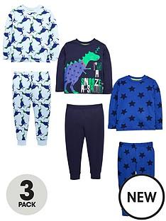 mini-v-by-very-boys-3-pack-dinosaur-pyjamas