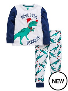 mini-v-by-very-boys-dinosaur-rudolph-christmas-pyjamas