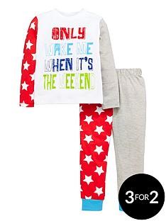 mini-v-by-very-boys-neon-slogan-amp-star-pyjamas