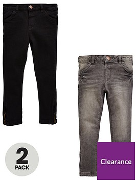 mini-v-by-very-girls-2-pack-side-zip-jeans-with-stretch