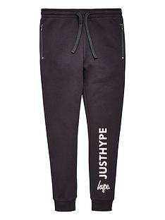hype-girls-zip-pocket-black-joggers