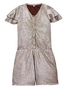 mini-v-by-very-girls-frill-sleeve-metallic-party-playsuit