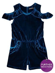 mini-v-by-very-girls-turquoise-velvet-party-playsuit