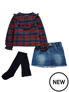 mini-v-by-very-girls-tartan-ruffle-shirt-denim-skirt-and-tights-outfit