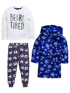 mini-v-by-very-boys-fluffy-robe-and-bear-pyjamas