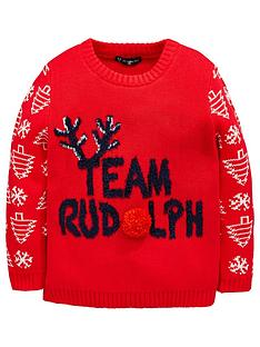 mini-v-by-very-team-rudolph-boys-christmas-jumper