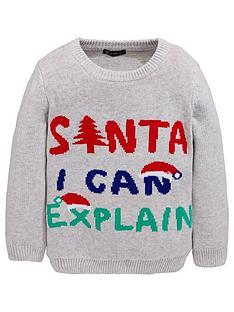 mini-v-by-very-boys-039santa-i-can-explain039-novelty-christmas-jumper