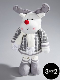 16-inch-grey-standing-reindeer-christmas-decoration