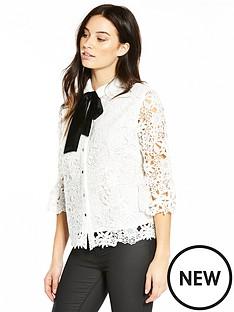 v-by-very-velvet-tie-premium-lace-shirt