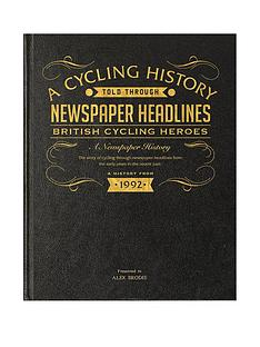 personalised-cycling-heros-newspaper-a3-book-black-leather-covercolour-print