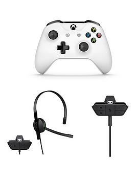 Xbox One Mega Pack Controller &Amp Chat Headset &Amp Stereo Adaptor