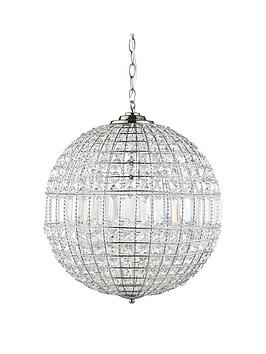Luxe Collection Luxe Collection Solara Crystal Ball Pendant Light Picture