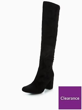 wallis-wallis-harmonica-lace-up-heeled-knee-boot