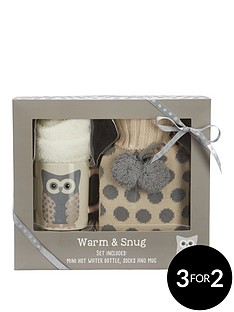 snowy-owl-warm-amp-snug-set-withnbsphot-water-bottle-socks-amp-mug