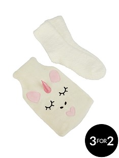 unicorn-hot-water-bottle-amp-sock-set