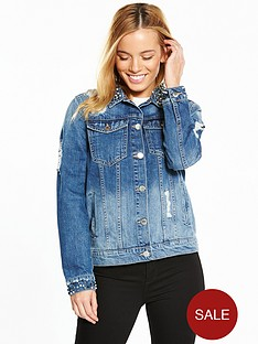 v-by-very-petite-pearl-detail-denim-jacket