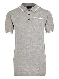 river-island-boys-grey-tipped-smart-polo-shirt