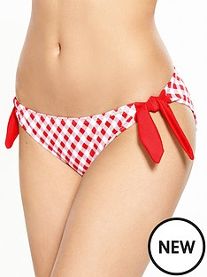 boux-avenue-hollywood-gingham-tie-side-bikini-brief-red