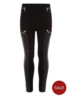 river-island-girls-black-faux-leather-panel-zip-leggings