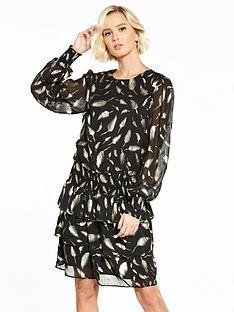 yas-gold-leaf-short-dress