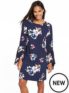 vero-moda-bali-three-quarter-sleeve-short-dress