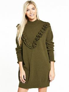 vero-moda-brawley-svea-long-sleeve-short-dress-olive