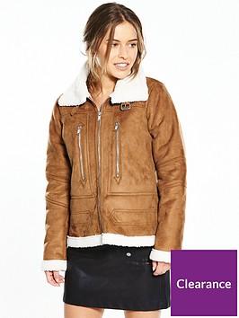 vero-moda-petite-jossa-short-jacket-brown