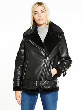 vero-moda-elisa-pu-jacket-black