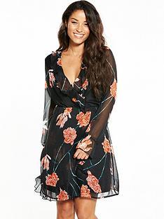 vero-moda-rose-frill-long-sleeve-short-dress