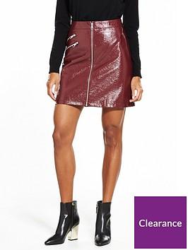 vero-moda-dalian-short-faux-leather-skirt-zinfandel