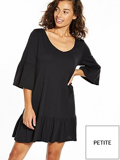 vero-moda-petite-drop-hem-frac34-sleeve-dress