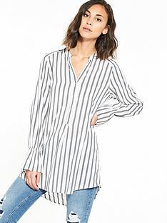 vero-moda-erika-long-sleeve-bell-shirt-grey