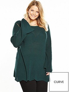 junarose-dappy-round-neck-jumper-green