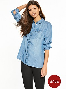 vero-moda-long-sleeve-denim-shirt
