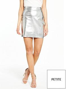 vero-moda-petite-acie-mini-skirt-silver
