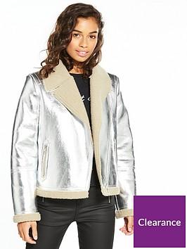 vero-moda-petite-short-faux-suedenbspjacket-silver