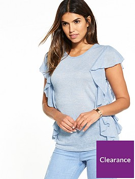 v-by-very-frill-slub-t-shirtnbsp--light-blue