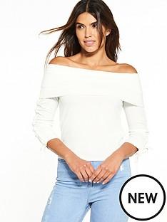 v-by-very-rib-bardot-top-white