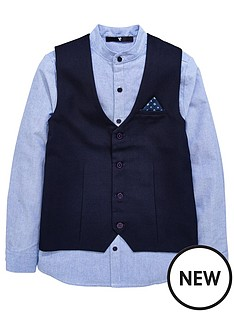 v-by-very-grandad-shirt-amp-waistcoat-set
