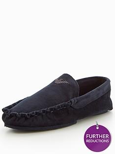 emporio-armani-velvet-moccasin-slipper