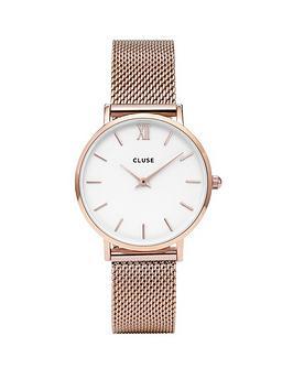 cluse-cluse-minuitnbsprose-gold-mesh-bracelet-ladies-watchnbsp