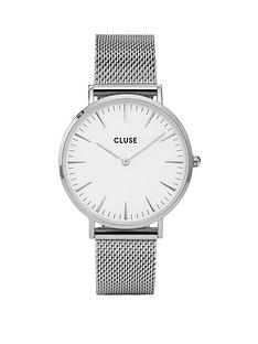 cluse-cluse-la-bohegraveme-silver-mesh-bracelet-ladies-watch