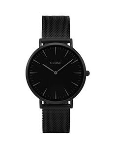 cluse-cluse-la-bohegraveme-all-black-mesh-bracelet-ladies-watch