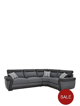 geo-fabric-and-faux-leather-right-hand-corner-group-sofa-bed