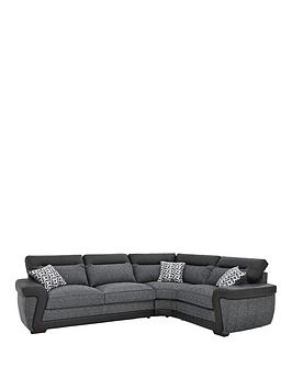 Very Geo Fabric And Faux Leather Right-Hand Corner Group Sofa Bed Picture