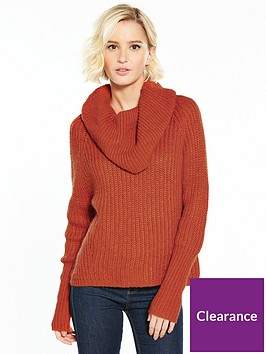 vila-view-long-sleeve-cowl-neck-knit-top-red