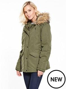 vila-must-short-parka-jacket-khaki