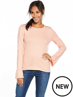 vila-kendri-long-sleeve-knit-top-peach